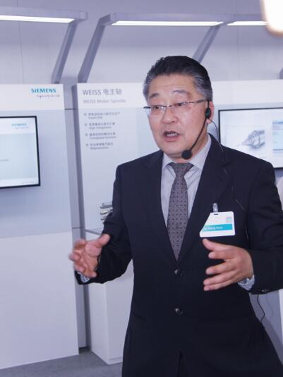 西门子(中国)有限公司数字化工厂集团运动控制部机床数控系统总经理许政顺先生