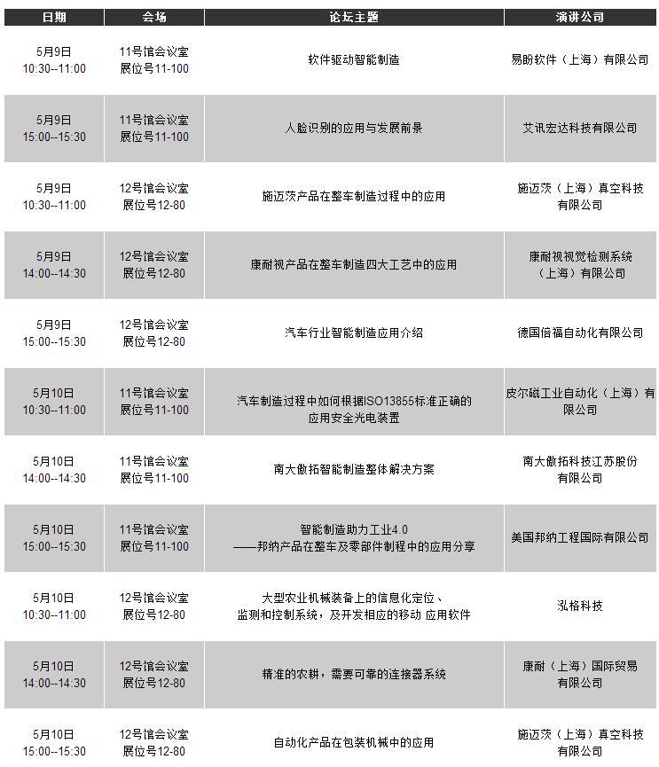 2018 应用公园日程表