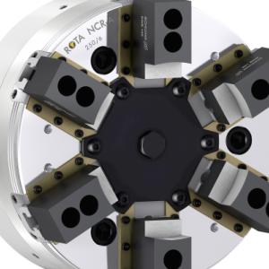 带浮动补偿功能的密封式6爪动力卡盘