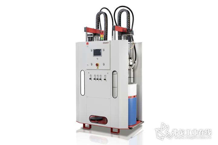 德派用于LSR加工的silcomix PE200定量混合供料系统