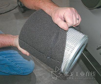 一些干燥系统有警报器来显示什么时候过滤器需要清洗(图片来自科乃而公司)