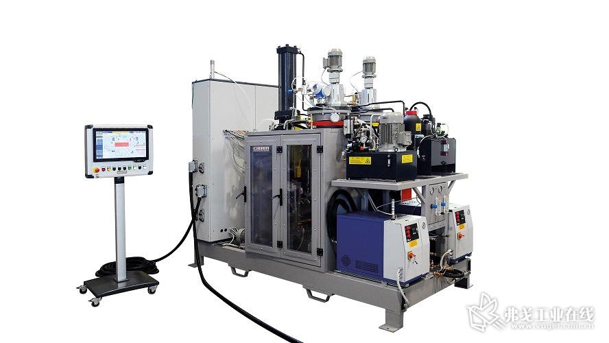 康隆(Cannon)的E-System Enhanced机器是一台适用于快速固化环氧树脂的高压3组分计量设备