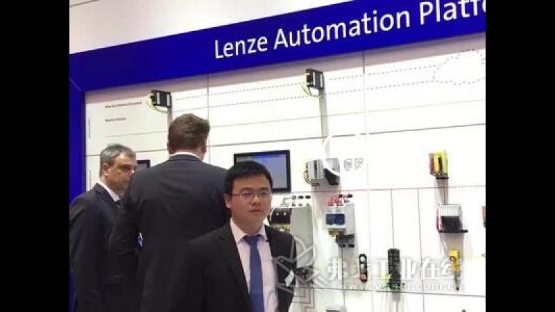 伦茨产品经理 杨本玉先生介绍 伦茨自动化平台展板