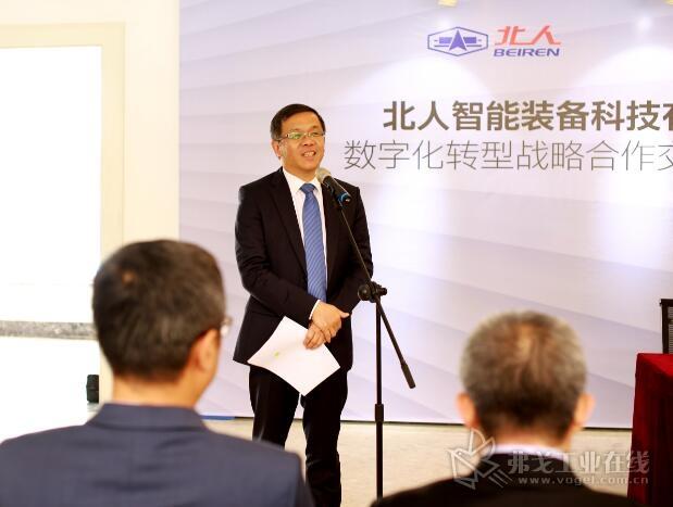 ABB集团亚洲、中东及非洲区总裁、ABB(中国)有限公司董事长兼总裁顾纯元博士在签约仪式上致辞