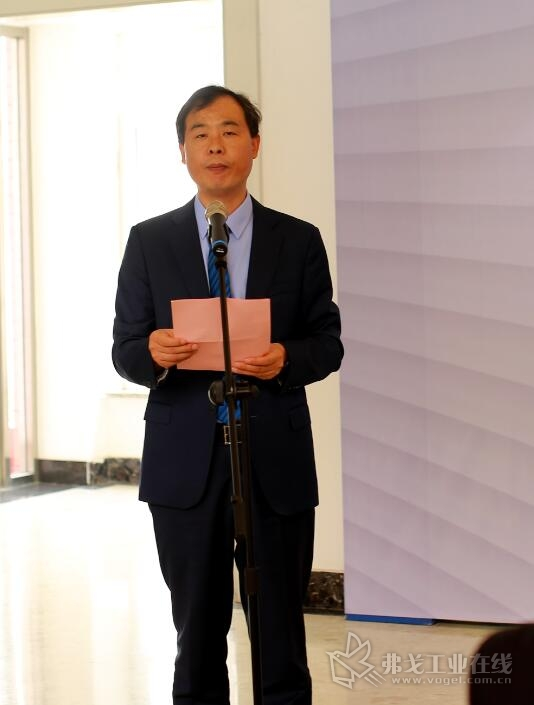 北人智能装备科技有限公司总经理李彦锋先生在签约仪式上致辞