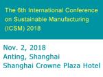 2018(第六届)国际可持续制造会议  英文版--ICSM2018