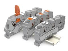万可:带有操作手柄的WAGO TOPJOB®S 系列轨装式接线端子