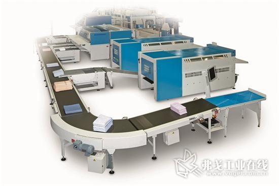 在智能洗衣店中,分拣系统、洗衣机、衣物烘干机、自动整烫设备或摺叠机没有被视为单独的机器,而是作为整个过程的组织和数据技术协作