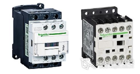 施耐德电气TeSys D S207C系列(左)、TeSys K S207系列(右)轨交车辆专用接触器