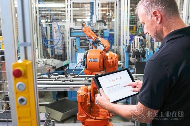 图2 所有的ABB机器人都投入到ABB Ability Connected服务中,机器人可以通过自主预见性产生直接为生产提供全新可能的行为