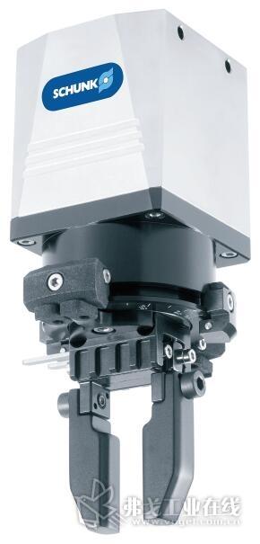 图3  全球最紧凑的电动抓取旋转模块 SCHUNK EGS 可提供尺寸 25 和 40,夹持力为 15N 或 140N,行程为 3mm 或 6mm,适用于重量最高为 0.55kg 的部件