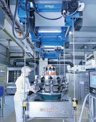 食品生产领域带吊具和动力装置的四钩环链葫芦