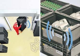 Schreiner 公司为产品生产、装配和物流过程中的数据控制和连续通讯开发了一种新的RFID 射 频标签;利用这一射频标签能够实现智能化的运输器具管理