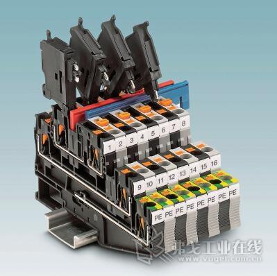 图3 带有连接式技术的多层接线端子可保护如传感器和执行器这样的现场设备,与传统的布线缆相比,占用面积最多可节省66%