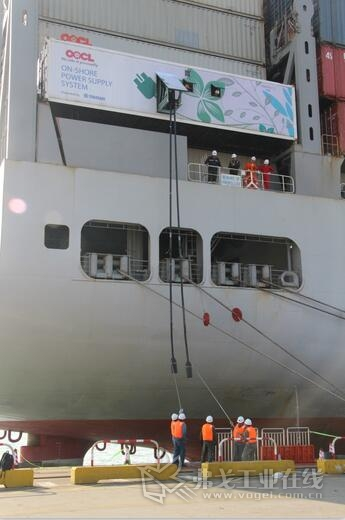 图1 岸电连接船舶下放电缆