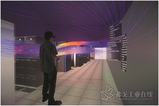 图3 使用流动模拟可以精确计算室内空气的流动