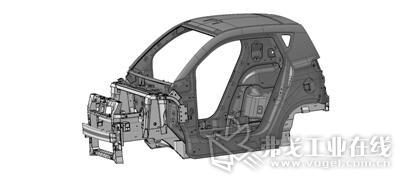 图1 全碳纤维车身本体+铝合金车架的车身结构方式