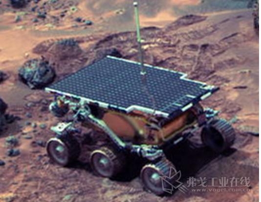 """1997年 """"旅居者""""机器人参与火星探索"""
