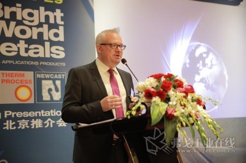 杜塞尔多夫展览集团公司GMTN项目总监Gerrit Nawracala先生在GMTN 2019北京推介会做出了精彩发言