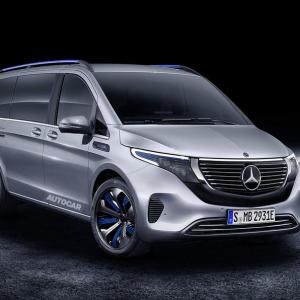 奔驰公布全新EQV概念MPV 将亮相日内瓦车展