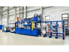 一种连续的模压成型系统可高效生产有机板材