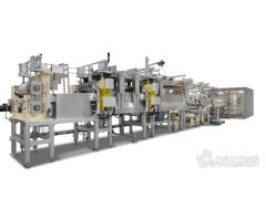用实验室设备生产纤维面重75 g/m²的预浸料