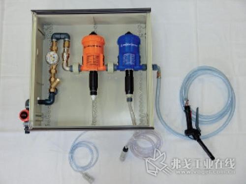 针对两种浓缩液的LDT-Dosatron计量配料柜