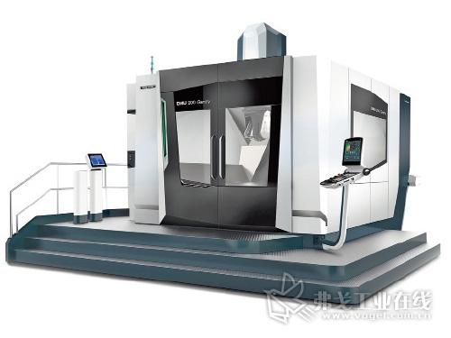 DMG Mori公司在EMO展会上首次推出了针对大件加工的DMU 200 Gantry型加工中心设备