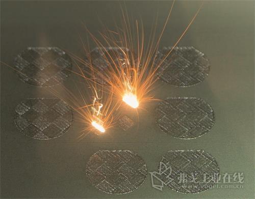图3  Mapal公司所采用的增材制造工艺可使工件的表面被细分成很多小方格