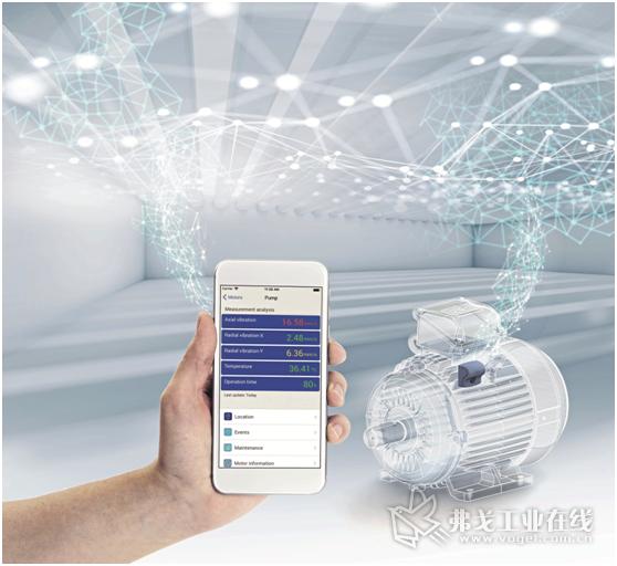 图3 通过WEG Motor Scan可以进行实时监控,以便启动预测性的维护措施,从而提高系统的可支配性