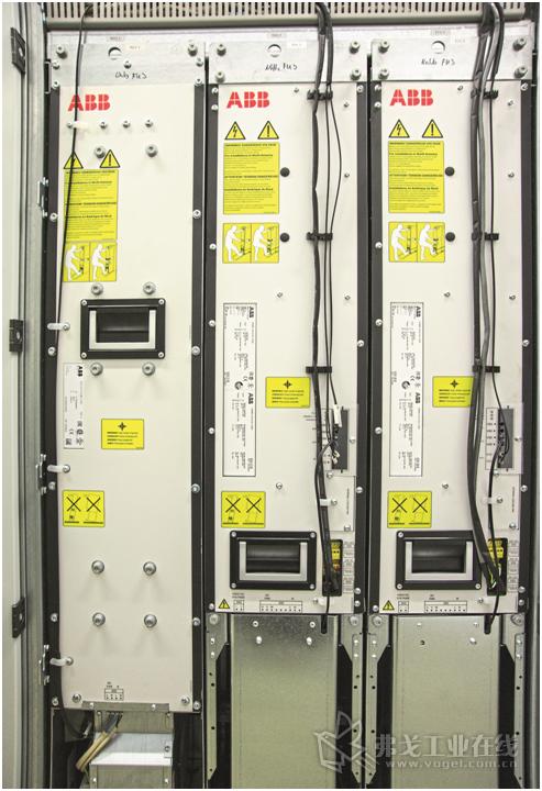 图3 ACS880-17装置在德国首次用于周期性的离心机