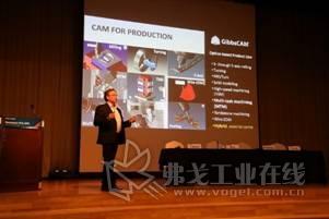 来自美国、以色列和韩国的技术专家们分别演示和讲解了Geomagic基于扫描的逆向设计/三维检测、自由造型设计解决方案,Cimatron专业加工解决方案,GibbsCAM车铣复合解决方案等