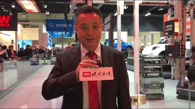 SEW天津公司副总经理任卫华先生介绍汽车装配车间模拟线