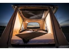 采用亚麻增强复合材料制成的车顶帐篷,为自驾旅行带来了便利