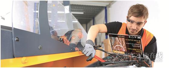 图1 数据眼镜可以实现检验标准的统一,能够可靠的检查各个紧固螺栓的装配质量