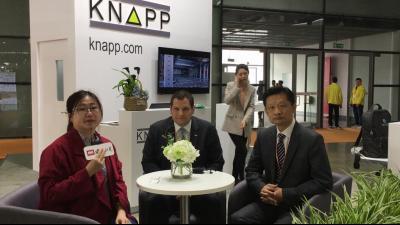 2019 LogiMAT China:科纳普总经理陈震天先生、中国区高级�客户经理 Klaus Hausharter先生