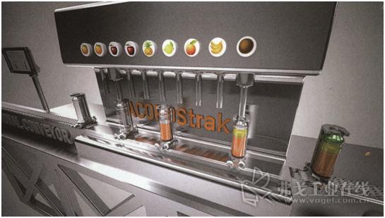 图4 以Acopostrak为基础,克朗斯公司开发的按需灌装方案可根据订单灌装个性化饮料