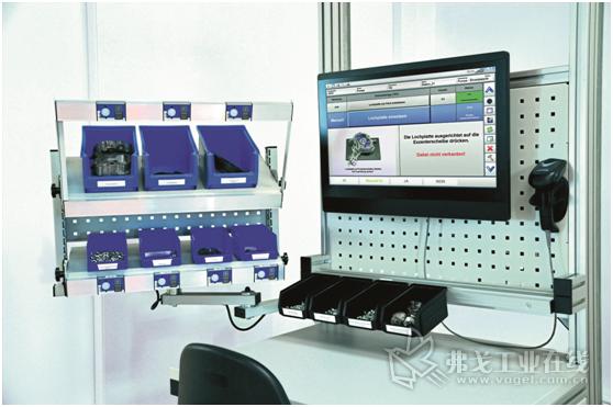 图1 通常情况下,一个系统是由一个显示在一体式计算机上的辅助软件、一个2D扫描仪以及一个电子标签器三部分组成
