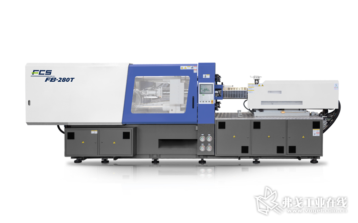 富强鑫本次展出的FB-280T高精度转轴三色注塑机,能满足多色、多材质结合的产品需求,适用于包覆突穿的多色产品