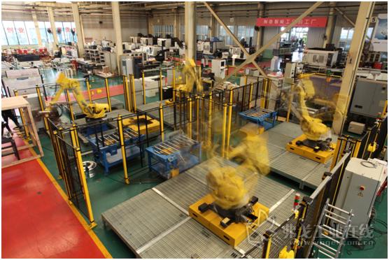装配工厂 关节机器人自动化生产线