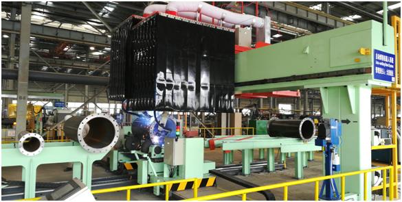 船舶大管径法兰机器人焊接生产线