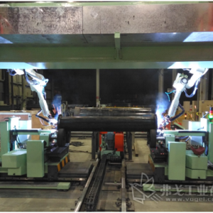 唐山开元电器:船舶大管径法兰机器人焊接生产线