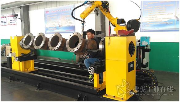 时代柔性智能机器人管道焊接系统智能申报现场照