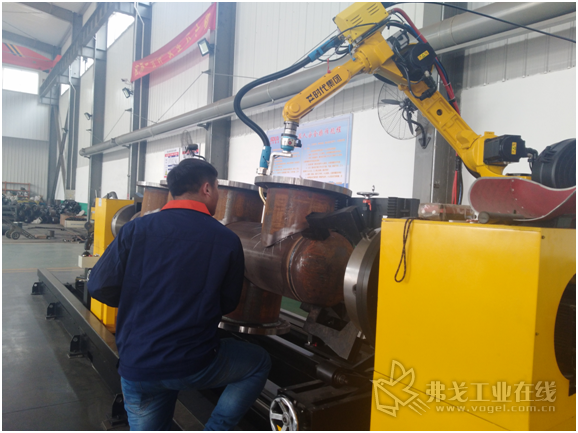 时代柔性智能机器人管道焊接系统智能申报现场照1