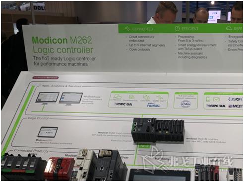 Modicon M262直连云高性能逻辑运动控制PLC此前曾在2019汉诺威工业博览会上惊艳亮相