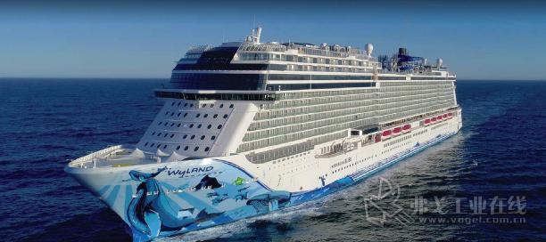 """迈尔造船厂2018年建造并交付给挪威邮轮公司的""""诺唯真极乐""""号。图片由迈尔造船厂提供,版权所有。"""