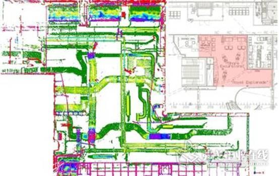 图2:使用Geomagic Control X 进行甲板分析后,结果显示了实际状况与CAD模型数据偏离的地方。确保可以及时进行必要的调整。图片由迈尔造船厂提供,版权所有。