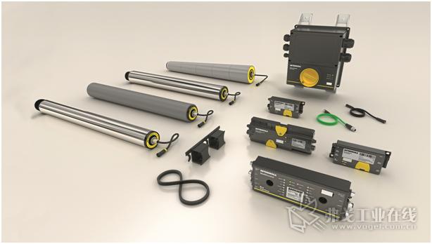 图2 Interroll公司利用新的RollerDrives驱动装置、控制器和电源组成的DC平台为物流企业提供了工业4.0的功能
