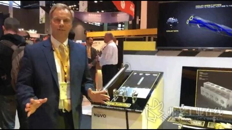 IMTS2018-Scott Etling先生肯纳金属公司旋转刀具业务部副总裁介绍展台的创新产品