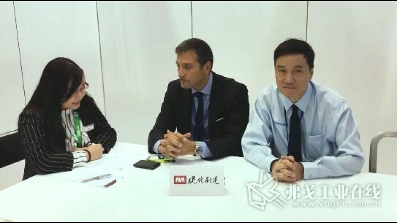 IMTS2018-马波斯集团机床部门总经理PAOLO MATTIOLI先生及马波斯(上海)商贸有限公司金属切削及成型部门经理周一勤先生